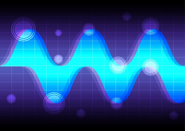 Abstract wave blue background technology