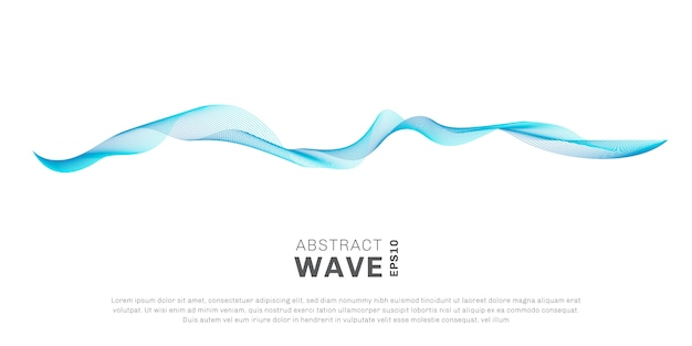 Abstract wave blue lines