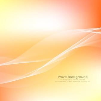 抽象的な波明るい背景デザイン