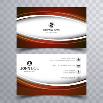 Abstract wave business card set template vector