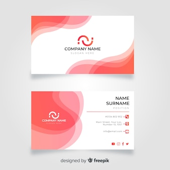 Abstract wave business card template