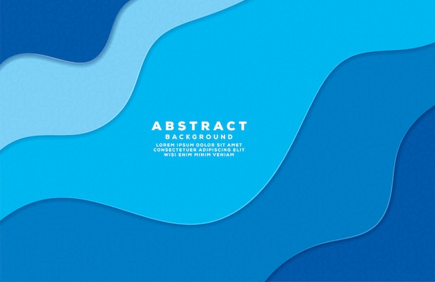 Abstract wave colorful background with paper cut style