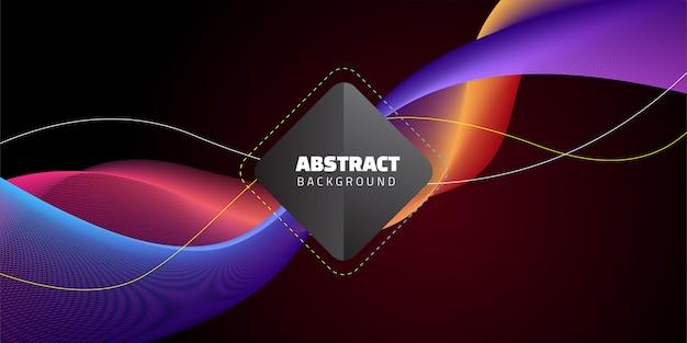 Abstract wave dark background