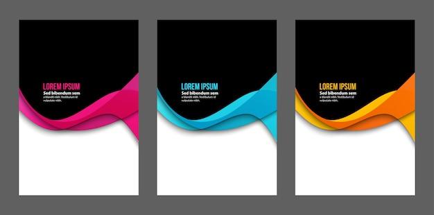 Abstract  wave   design. flow wave line set