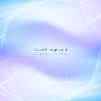 Abstract wave elegant blue background