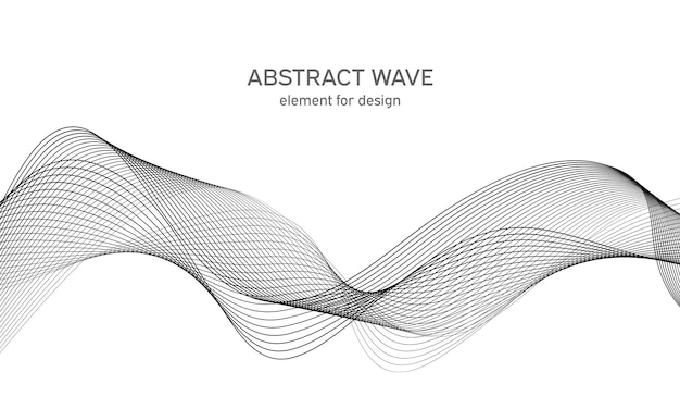 Abstract wave element for design. digital frequency track equalizer.
