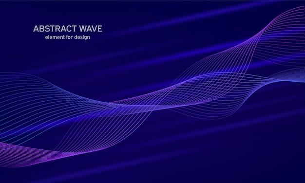Абстрактный элемент волны для дизайна. цифровой частотный трековый эквалайзер. стилизованные линии искусства фона.