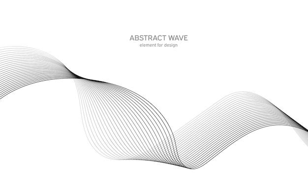設計のための抽象的な波要素。デジタル周波数トラックイコライザー。