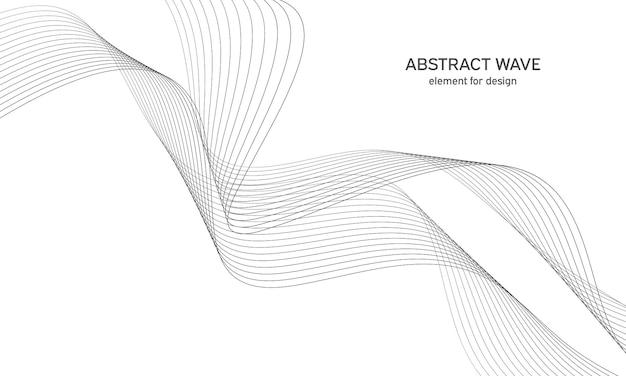 Абстрактный волновой элемент для дизайна цифровой частотный эквалайзер
