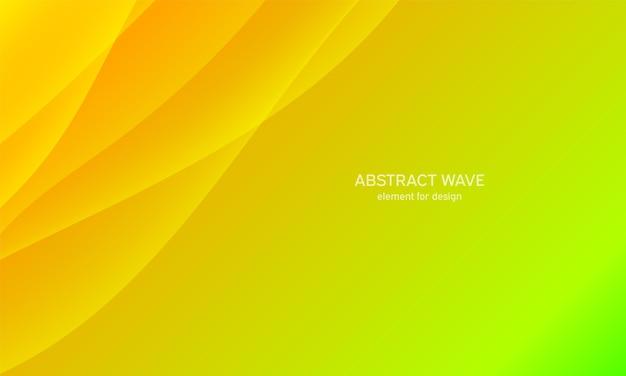 デザインのための抽象的な波要素。緑。デジタル周波数トラックイコライザー。