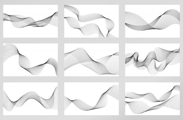 Абстрактный элемент волны для дизайна. устанавливать. цифровой частотный эквалайзер. стилизованный штриховой рисунок