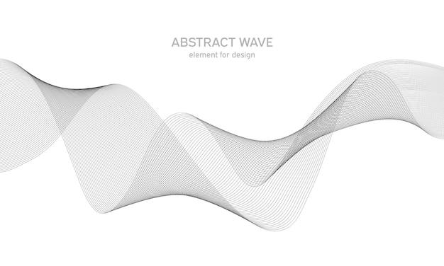 デザインのための抽象的な波要素