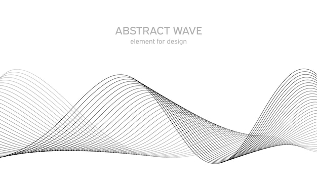 Abstract wave element   line art background