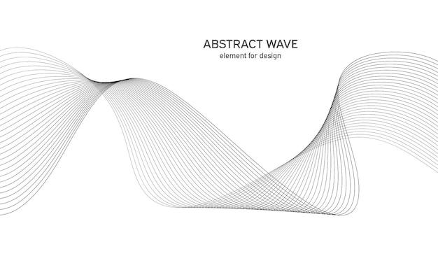 Абстрактный волновой элемент волна с линиями, созданными с помощью инструмента наложения