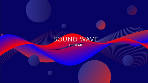 背景の抽象的な波