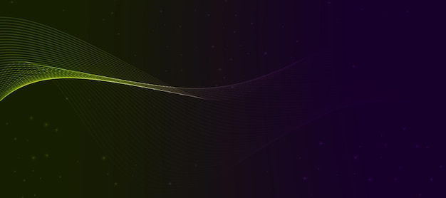 Abstract wave green violet gradient wallpaper background