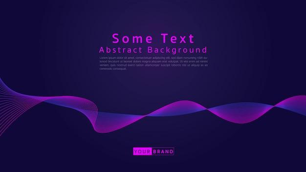 Abstract wave line background dark purple tone.