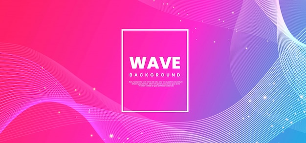 Abstract wave line colorful background