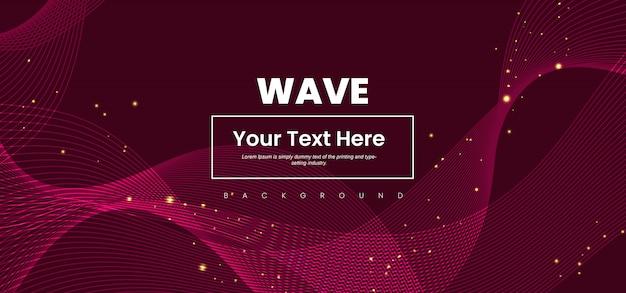 Абстрактная волна линия красочный фон