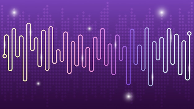 Abstract wave line spectrum equalizer background, modern design of music audio.
