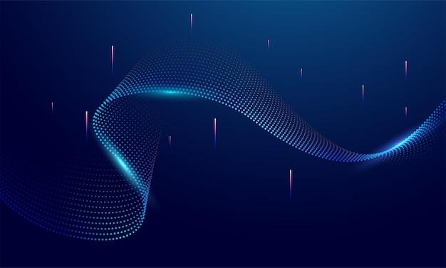Linee d'onda astratte luce colorata che scorre dinamica