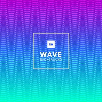 Abstract wave lines pattern vibrant color background