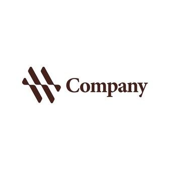建築会社の抽象的な波のロゴ。レターmwロゴタイプ