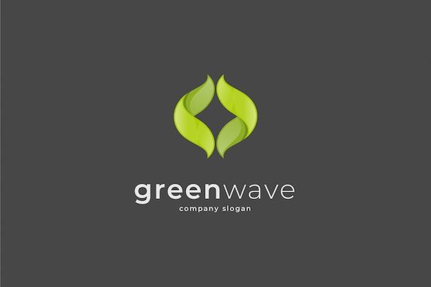 抽象的な波のロゴのテンプレート