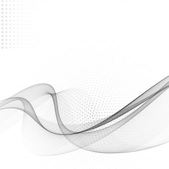 抽象的な波現代ハーフトーン