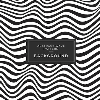 Abstract wave monochrome pattern background