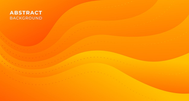 Abstract wave orange background