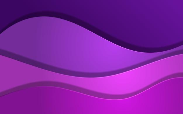 紫色の抽象的な波のオーバーラップ背景