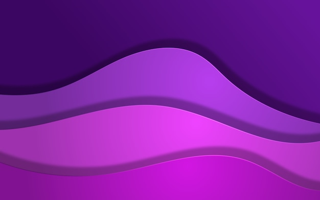 Abstract wave overlap background in purple colors