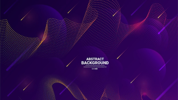 Abstract wave particle background