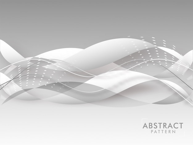 Abstract wave pattern background in grey color.