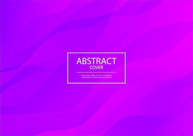 抽象的な波紫とピンクのグラデーションカラーの背景の光沢のあるライン。