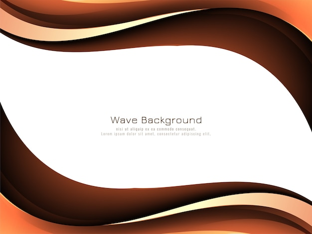 Abstract wave style background
