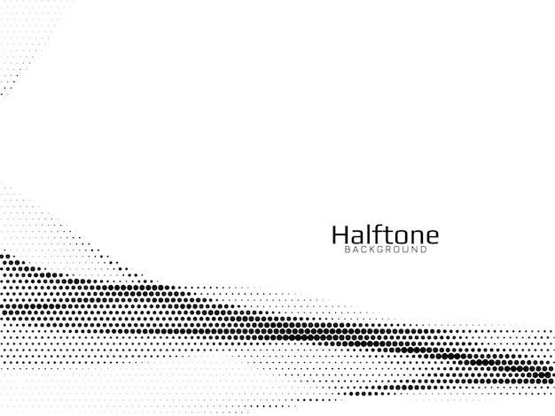 Абстрактная волна стиль полутонового фона вектор