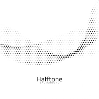 Abstract wave style halftone background