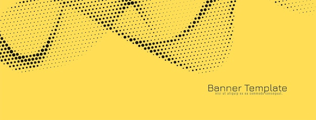Abstract wave style halftone banner