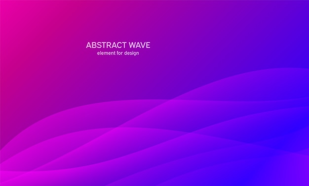 抽象的な波。様式化された線画の背景。