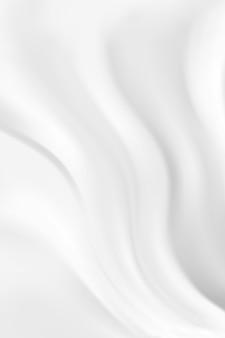 Абстрактная волна белый и серый тон фона. шелковое молоко сатин