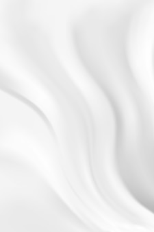 Abstract wave white and gray tone background. silk milk satin