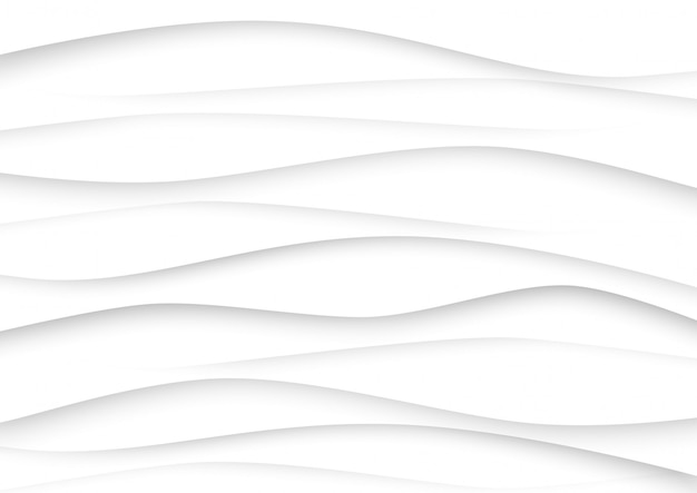 Abstract wave white and gray tone background