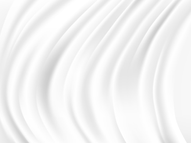 Abstract wave white and gray tone vector background