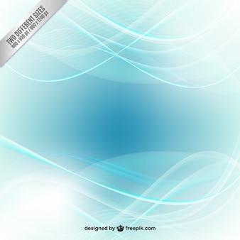青い色調で抽象的な波背景