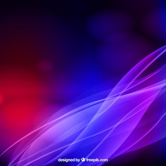 Abstract waves background con luci colorate