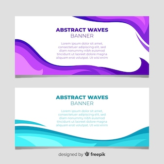 Abstract waves banner
