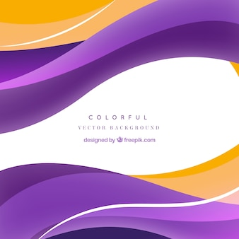 Abstract waves colorful vector background
