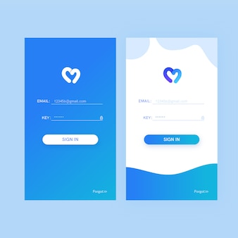 Abstract waves log-in landing page